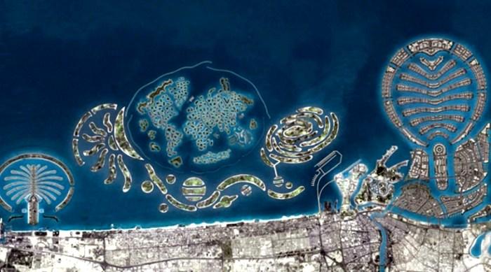 В числе рукотворных островов едва не появился российский вариант. /Фото: flashydubai.com