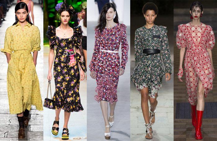 Модные дома снова продемонстрировали на подиуме платья в цветочек. /Фото: vogue.ru