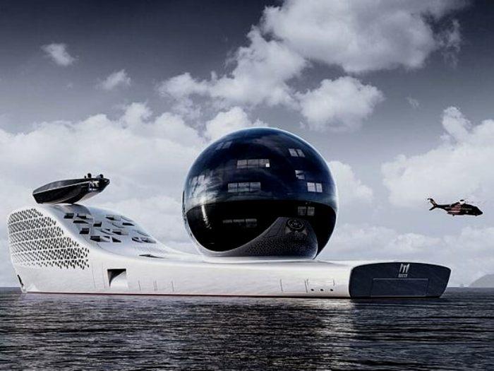 Длина яхты превышает длину Титаника. /Фото: vol.at