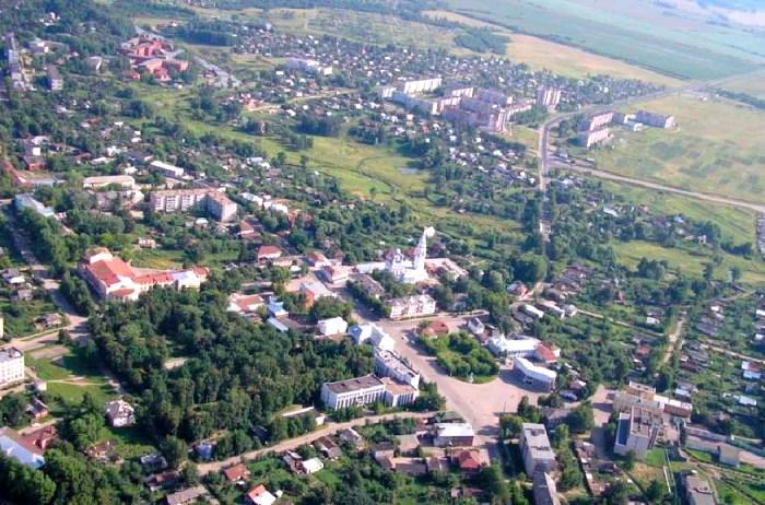 Вид на Приволжск с высоты птичьего полета. /Фото: privadmin.ru