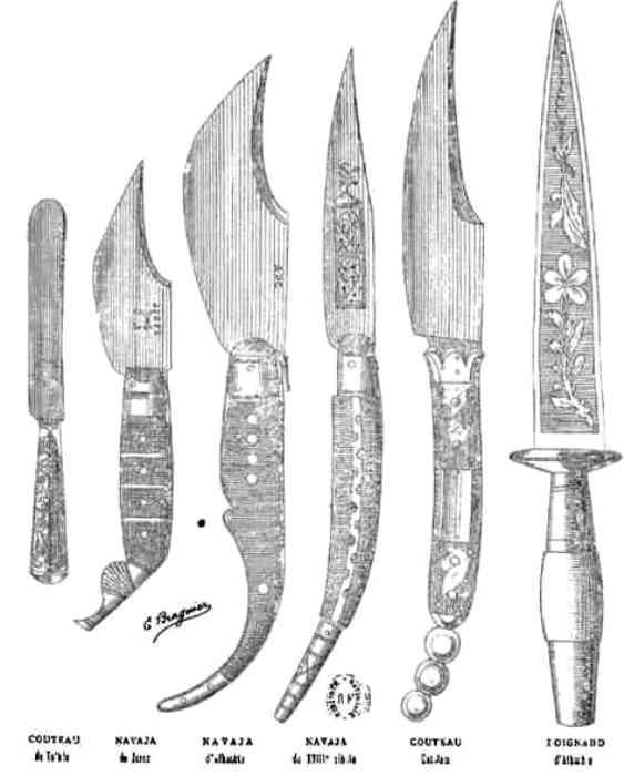 Некоторые разновидности навахи. /Фото: coollib.net