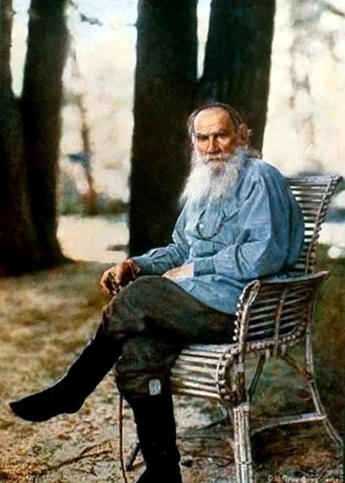 В числе первых цветных изображений был и портрет Льва Толстого. /Фото: postfactum.pro