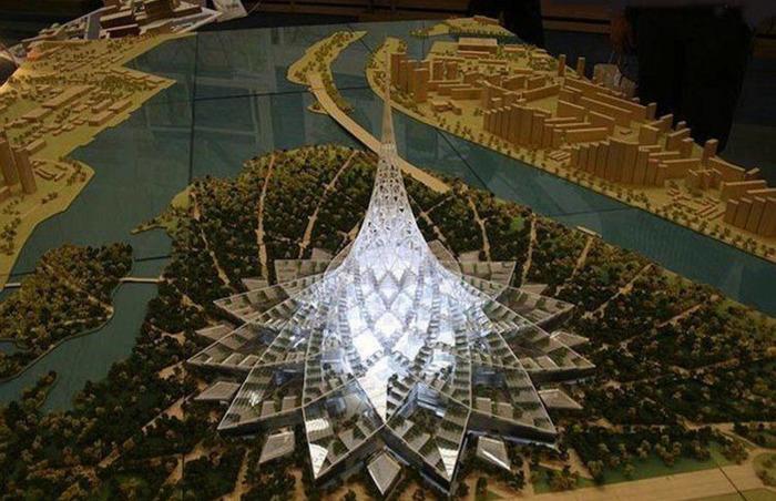 Проект Хрустального острова, вид сверху. /Фото: rbk.ru