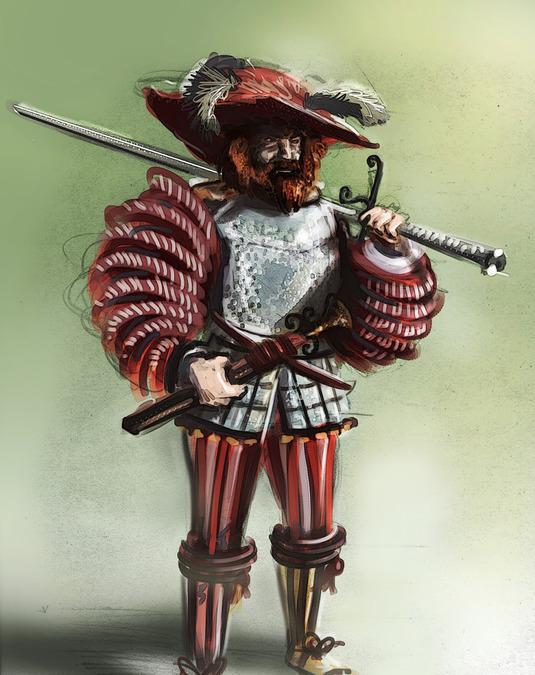 Ландскнехт с мечом. /Фото: warriors.fandom.com