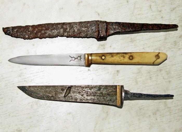 Древнерусские ножи, найденные во время раскопок в Новгороде. /Фото: rezat.ru