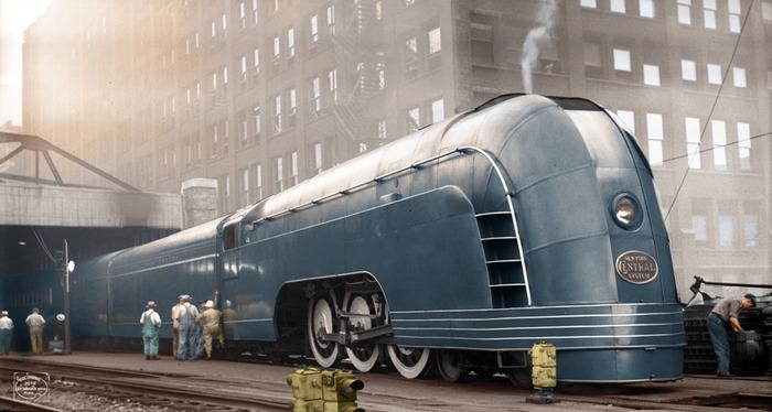 Так в довоенное время выглядел западный поезд будущего. /Фото: vk.com