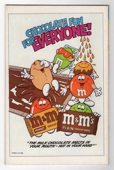 Рекламный постер бренда с самым известным слоганом и помеченными первой буквой названия драже. /Фото: pinterest.com