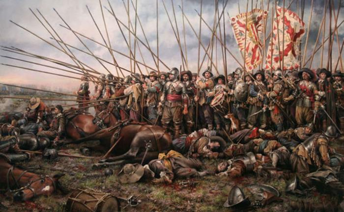 Пикинеры как часть войска постепенно морально устаревали. /Фото: proshloe.com