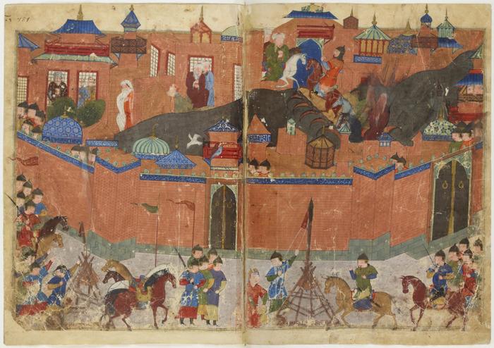 Битва за Багдад 1258 г., гравюра. /Фото: wikiрedia.org