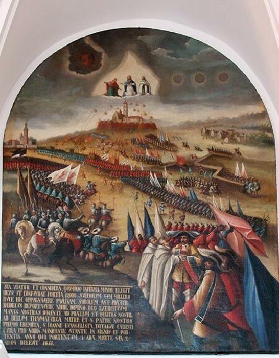 Картина, изображающая военные действия 1655 года. /Фото: wikipedia.org