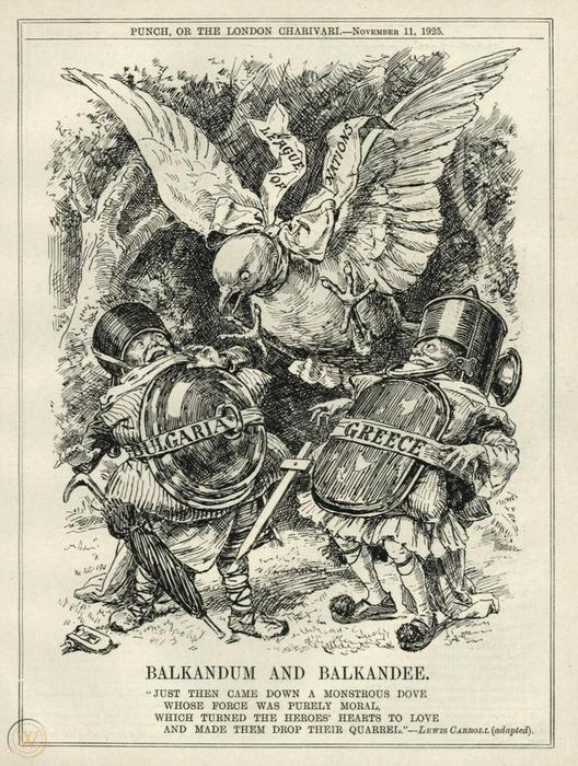Карикатура, изображающая события войны бродячей собаки, 1925 год. /Фото: worthpoint.com