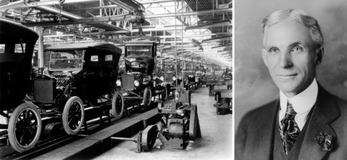 Генри Форд был скорее популяризатором конвейера, а не его создателем. /Фото: infokava.com