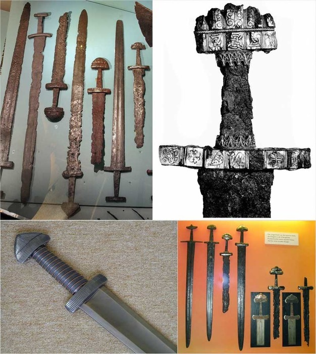 Мечи викингов эпохи раннего средневековья. /Фото: metalspace.ru