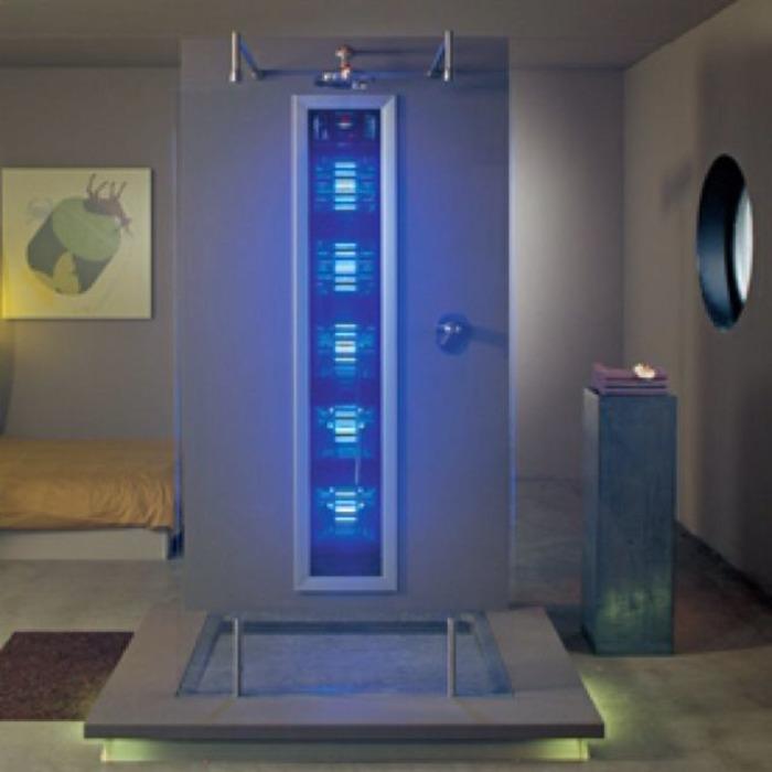 И душ, и солярий. /Фото: pinterest.com