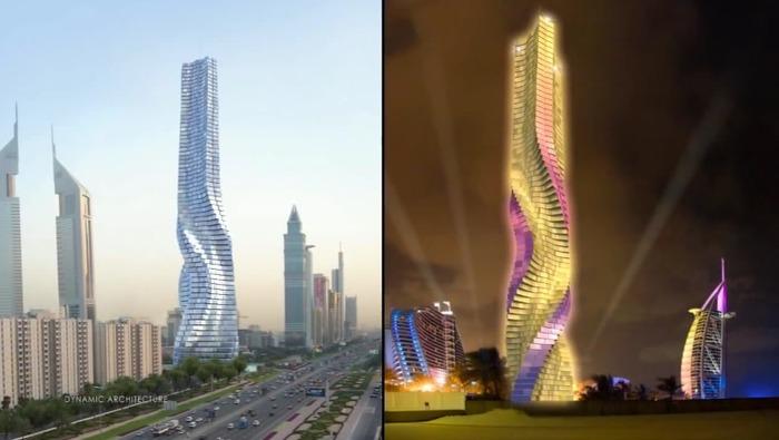 Нереализованный небоскрёб в Дубаях. /Фото: ecotechnica.com.ua