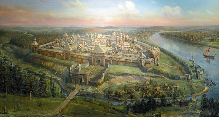 Деревянная крепость на Боровницком холме. /Фото: naukozavr.info