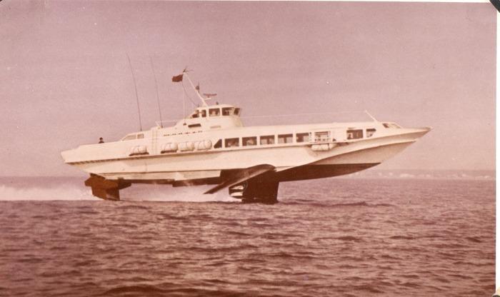 Экспериментальное пассажирское судно «Тайфун» /Фото: fleetphoto.ru