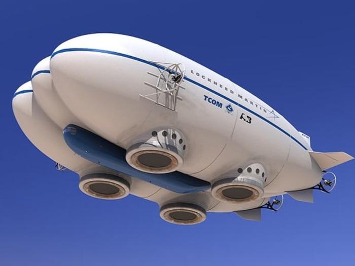 Не самый удачливый современный дирижабль. /Фото: turbosquid.com