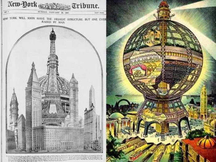Проект огромного нью-йоркского глобуса. /Фото: proektant.by