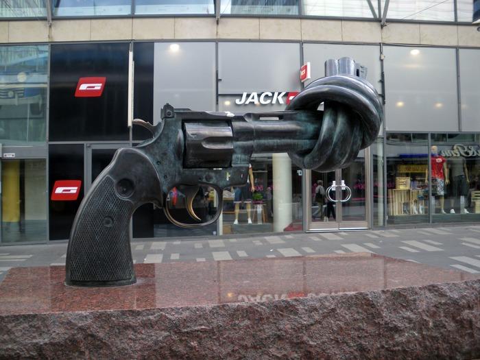 Скульптура с социальным подтекстом. /Фото: pinterest.ru