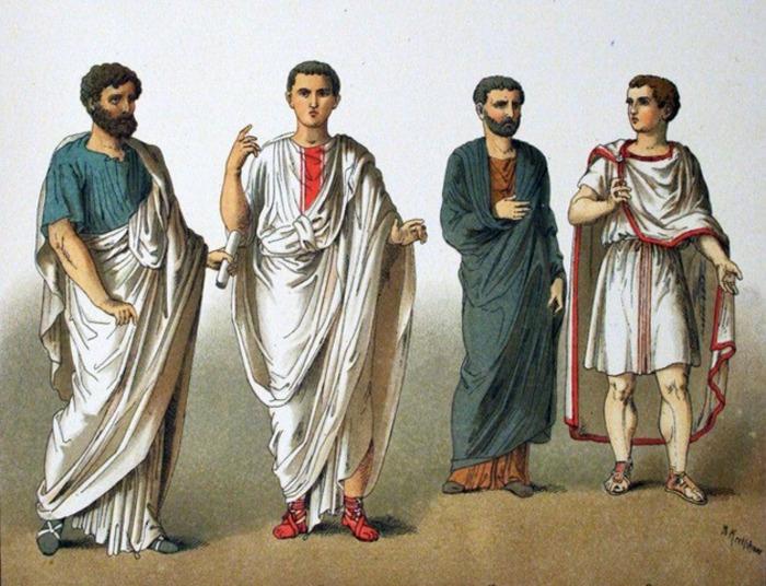 Тога в представлении многих считается едва ли не единственной одеждой римлян. /Фото: arzamas.academy