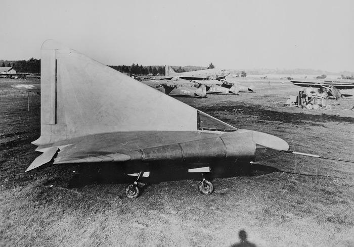 Одно из сохранившихся изображений прототипа Lippisch P. 13a. /Фото: airandspace.si.edu