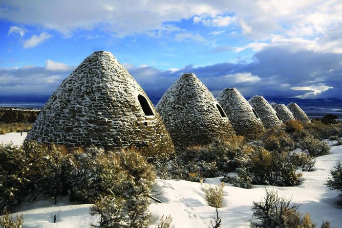Печи Уорда зимой. /Фото: nevadamagazine.com