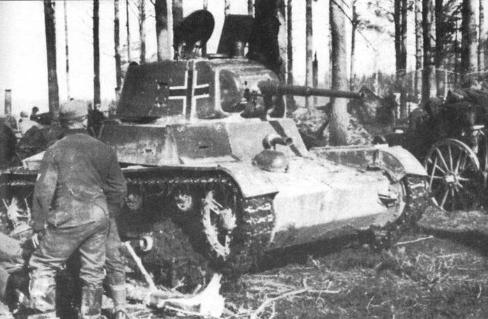 Советский Т-26, захваченный летом 1941 года. /Фото: dogswar.ru
