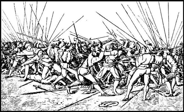 Бой ландскнехтов, 16 век. /Фото: Wikipedia.org
