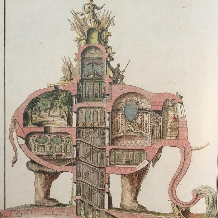 Внутренние помещения Триумфального слона. /Фото: kvadratinterwoven.com