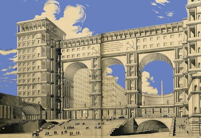 Самый известный проект здания Наркомтяжпрома в Москве. /Фото: wikiрedia.org