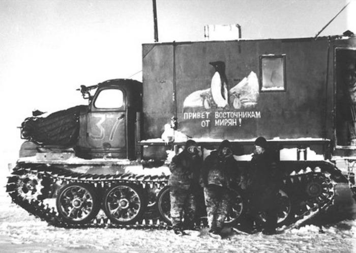 Едва ли не единственное сохранившееся изображение советского вездехода. /Фото: banana.by