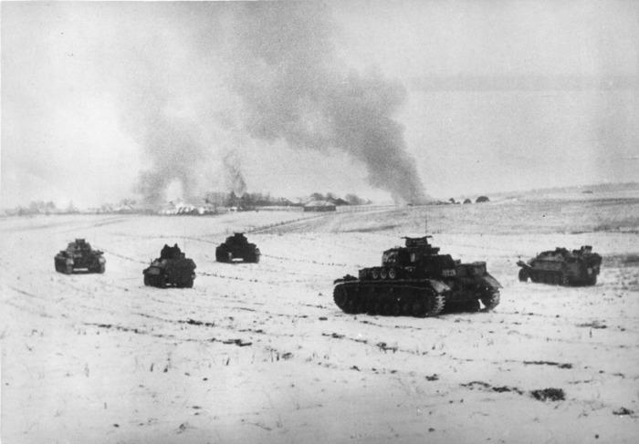 Танки вермахта под Москвой, 1941 год. /Фото: diletant.media