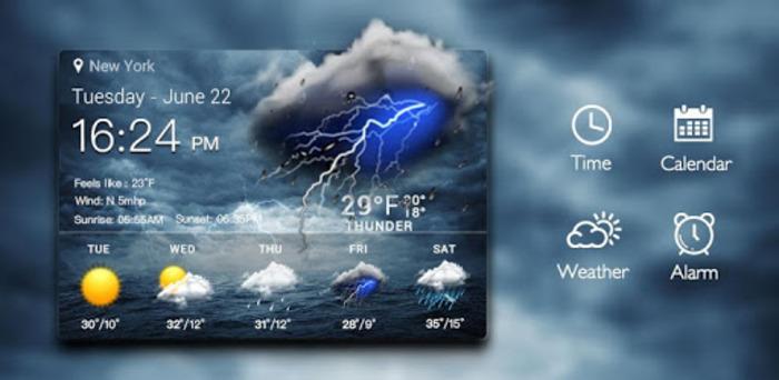 Погодный виджет в ОС гаджетов - давно не новинка. /Фото: play.google.com