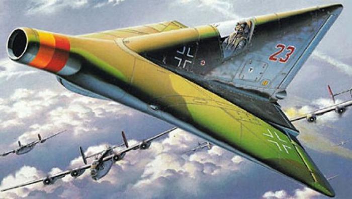 Один из самых оригинальных, но недостроенных немецких самолётов. /Фото: lainformacion.com