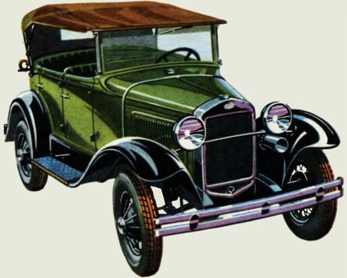 Первый советский легковой автомобиль. /Фото: pynop.com