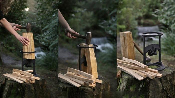 Процесс рубки дров прост и безопасен. /Фото: wipo.int
