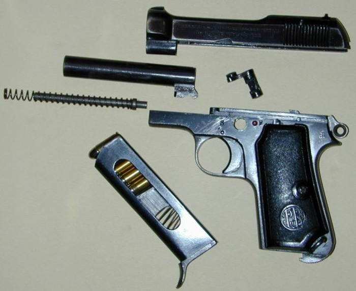 Беретта М1934 в разобранном виде. /Фото: modernfirearms.net