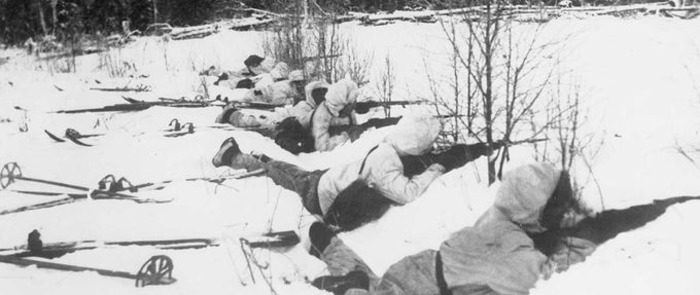 Финские пехотинцы, 1940 год. /Фото: explorethearchive.com