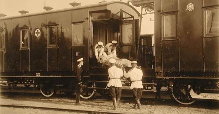 Санитарный поезд в годы Первой мировой войны. /Фото: ok.ru
