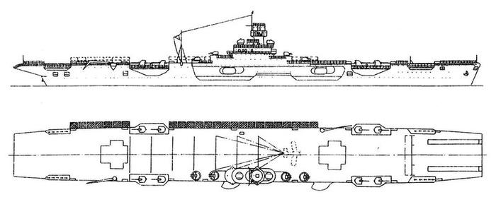 Один из предполагаемых вариантов авианосца согласно проекту 71. /Фото: alternathistory.com