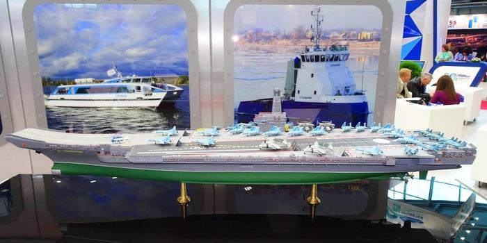 Макет судна, представленный в 2020 году. /Фото: topwar.ru