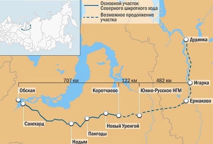 Карта Северного широтного хода. /Фото: vladimir.kp.ru