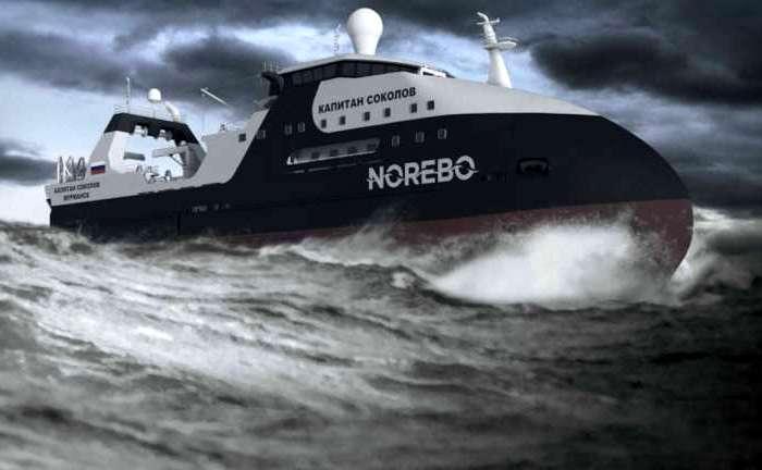 Концепт-арт траулера «Капитан Соколов» авторства «Северной верфи». /Фото: topspb.tv