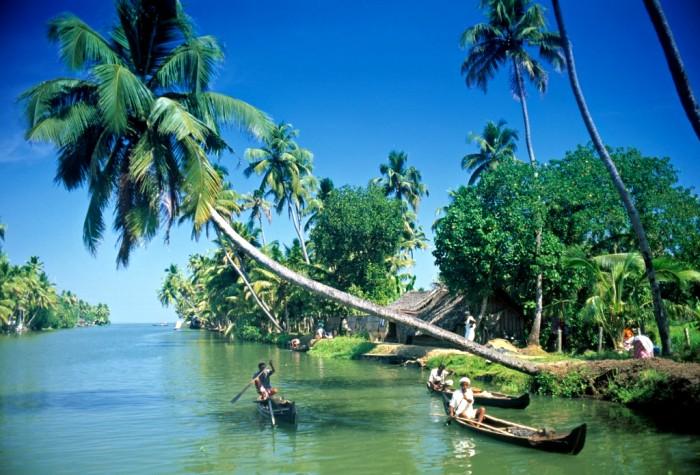 Индийская Венеция в тропическом исполнении. /Фото: blogspot.com