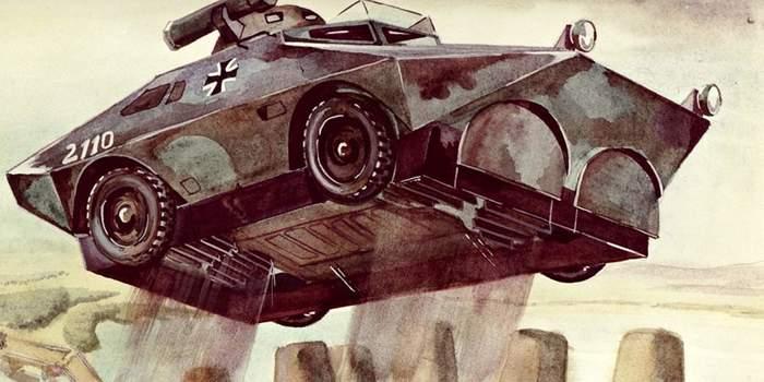 Прыгающая разведывательная бронемашина. /Фото: magspace.ru