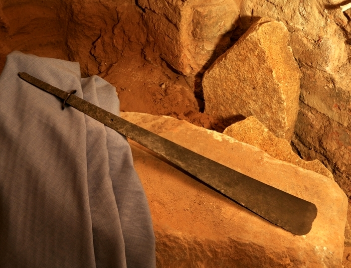 Не просто меч, а подлинная реликвия из Библии. /Фото: radiopoznan.fm