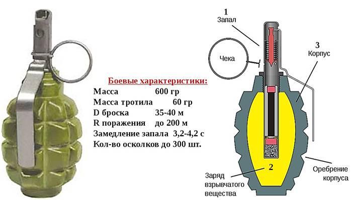 Характеристики и конструкция гранаты. /Фото: anta-sib.ru