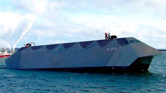 Корабль, который должен был быть незаметнее тени. /Фото: zonwar.ru