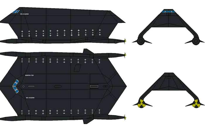 Чертежи корабля с разных ракурсов. /Фото: zonwar.ru